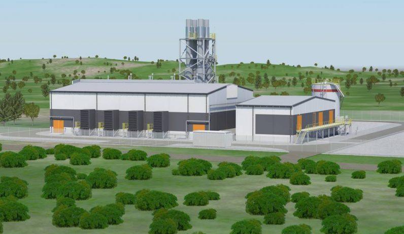 Havainnekuva Argentiinan Anchorikseen tulevasta kaasuvoimalasta.